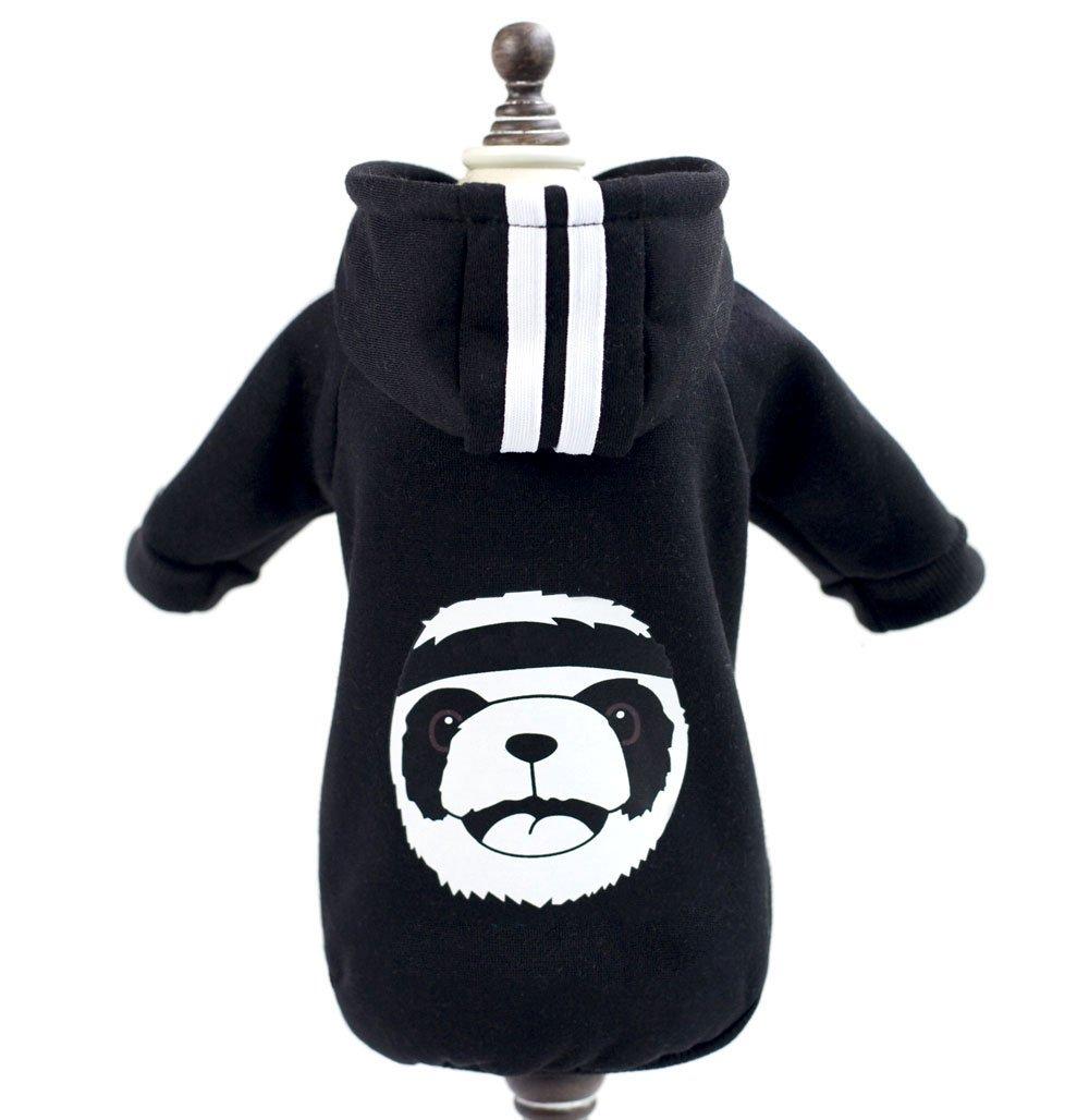 smalllee _ LUCKY _ Store en polaire chaude pour petit chien vêtements Panda Veste à capuche pour femme Costume Pet vêtements Apparel SMALLLEE_LUCKY_STORE
