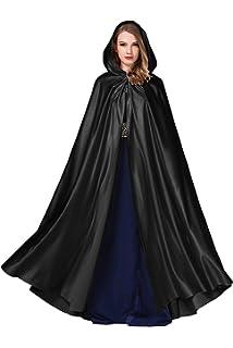 Kengtong Femme Blanc Cape à Capuche Manteau Echarpe pour Robe de Mariage  Satin Blanc Halloween Cérémonie… a4cad3f35a0e