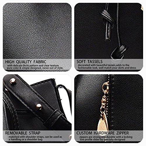 Bags Top Handle Handbags Faux Women's Shoulder Cross Bags Black Bags Leather Body wFBc0gTq