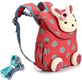 BTSKY Cute Bunny Anti-Lost Kids Backpack with Harness -Toddler Child Kid  Walking Safety Backpack… 79437c0fd6d64