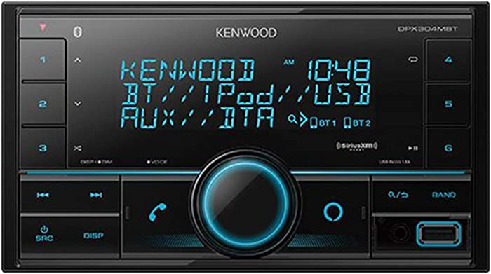 Kenwood DPX304MBT Digital Media Receiver Compatible with Alexa Voice Control (Does not Play Cd's)