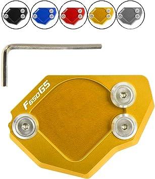 F650gs Motorrad Cnc Seitenständer Verbreiterung Ständer Seite Ständer Verlängerung Teller Pad Für B M W F 650 Gs F650gs 2007 2014 Gold Auto
