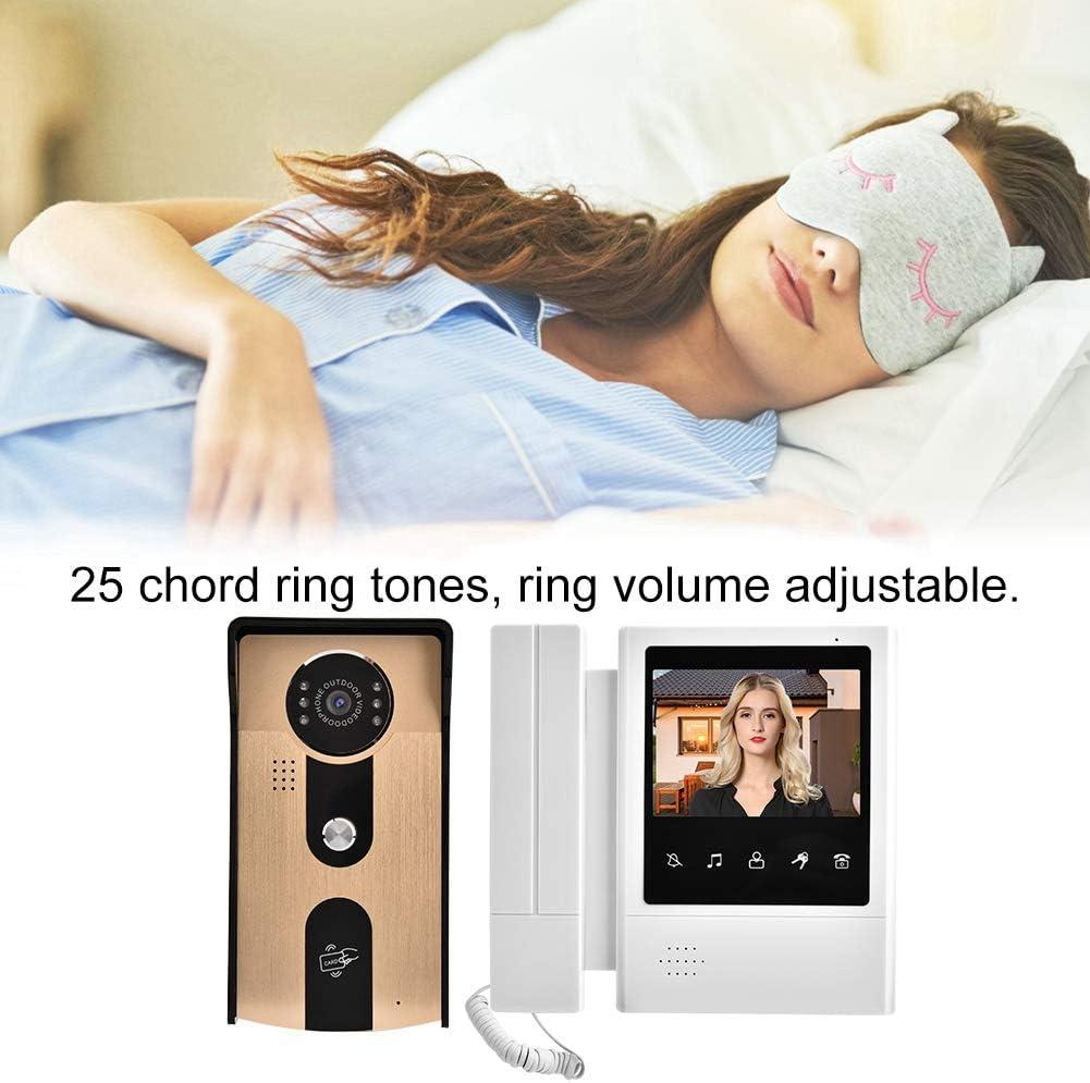 cam/éra de Vision Nocturne /à Infrarouge EU /écran Tactile Couleur LCD de 4,3 Pouces interphone Prise en Charge du visiophone Syst/èmes dinterphone vid/éo