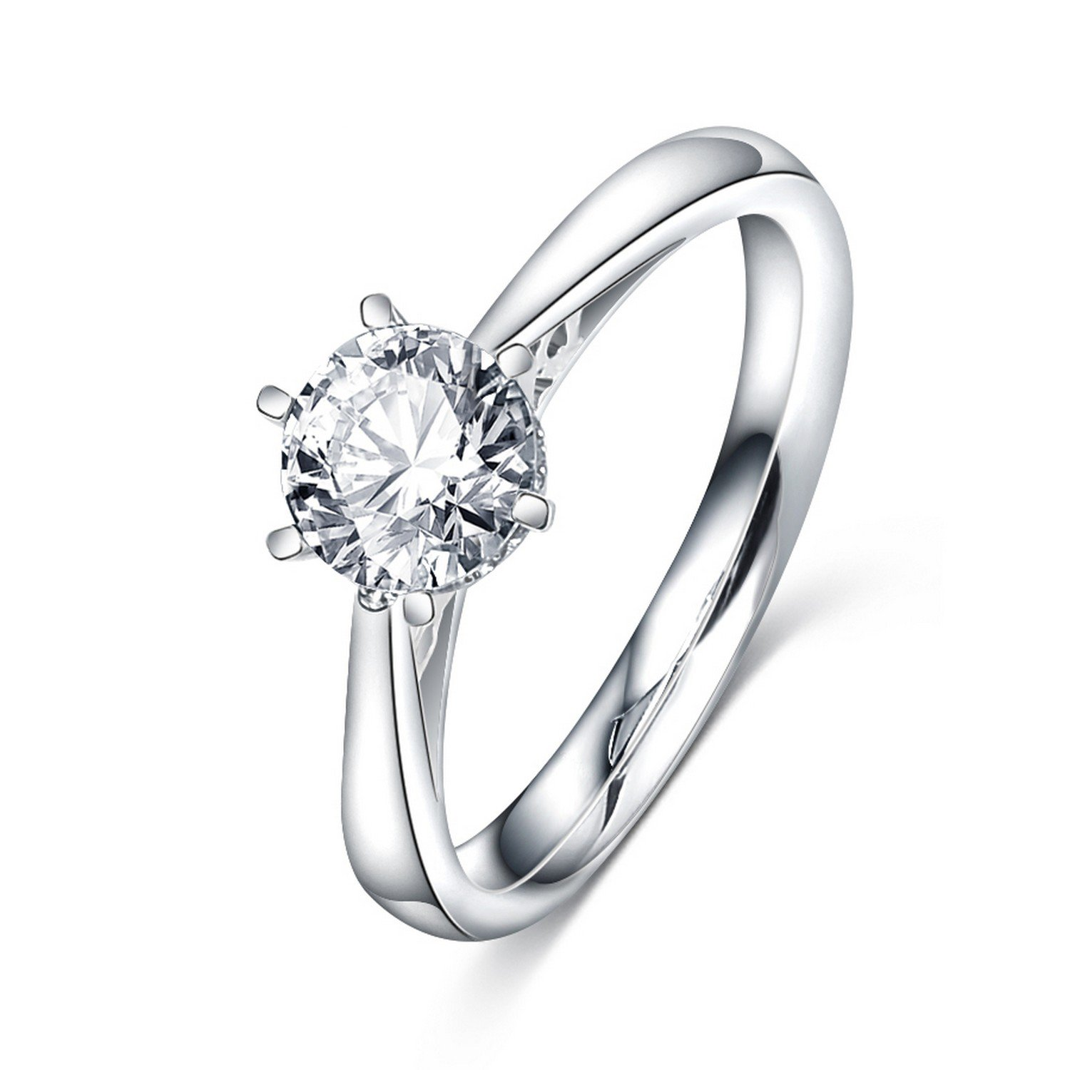 Slyq Jewelry CZ Crystal Vintage Finger RingSilver Color womens engagement rings rings for women fashion