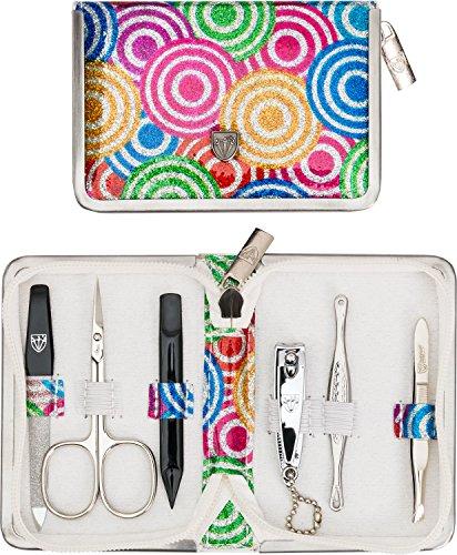 Drei Schwerter   Exklusives 6-teiliges Maniküre - Pediküre - Nagelpflege-Set / Etui   Qualität - Made in Solingen (521903)