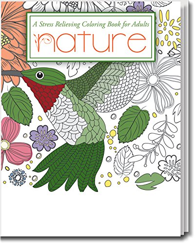 Nature, Stress Relieving Coloring Book for Adults - Package of 5 by Safety Magnets