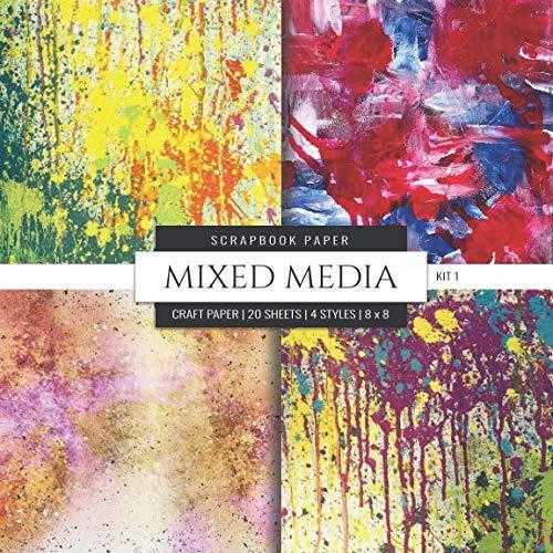 Mixed Media Scrapbook Paper Kit 1: Colorful 8x8 Decorative Craft Paper, Designer Specialty Paper for Scrapbooking, Card Making, Origami, Printmaking, ... Watercolor Themed (Scrapbook Paper Packs)