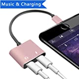 Lightning Headphone Jack Adapter cable for iPhone 7/7Plus, Lightning 3.5mm Female Audio Earphone Connector for iPhone 8/8Plus/iPhone X/iPhone 7/7Plus, iPod Touch, iPad and More, Support IOS 11
