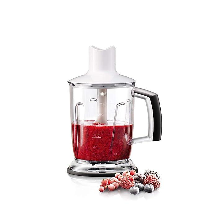 Braun Minipimer 3045 Batidora de mano, pié metálico, 2 velocidades, campana antisalpicaduras, 2 accesorios, procesador de alimentos, 700 W, ...