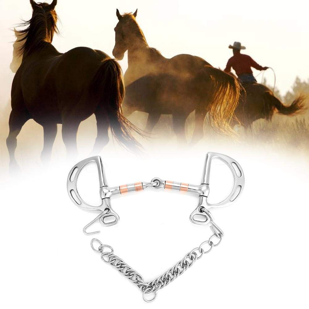 Stainless Steel Kimberwicke Bit with Red Copper Roller Horse Snaffle Bit