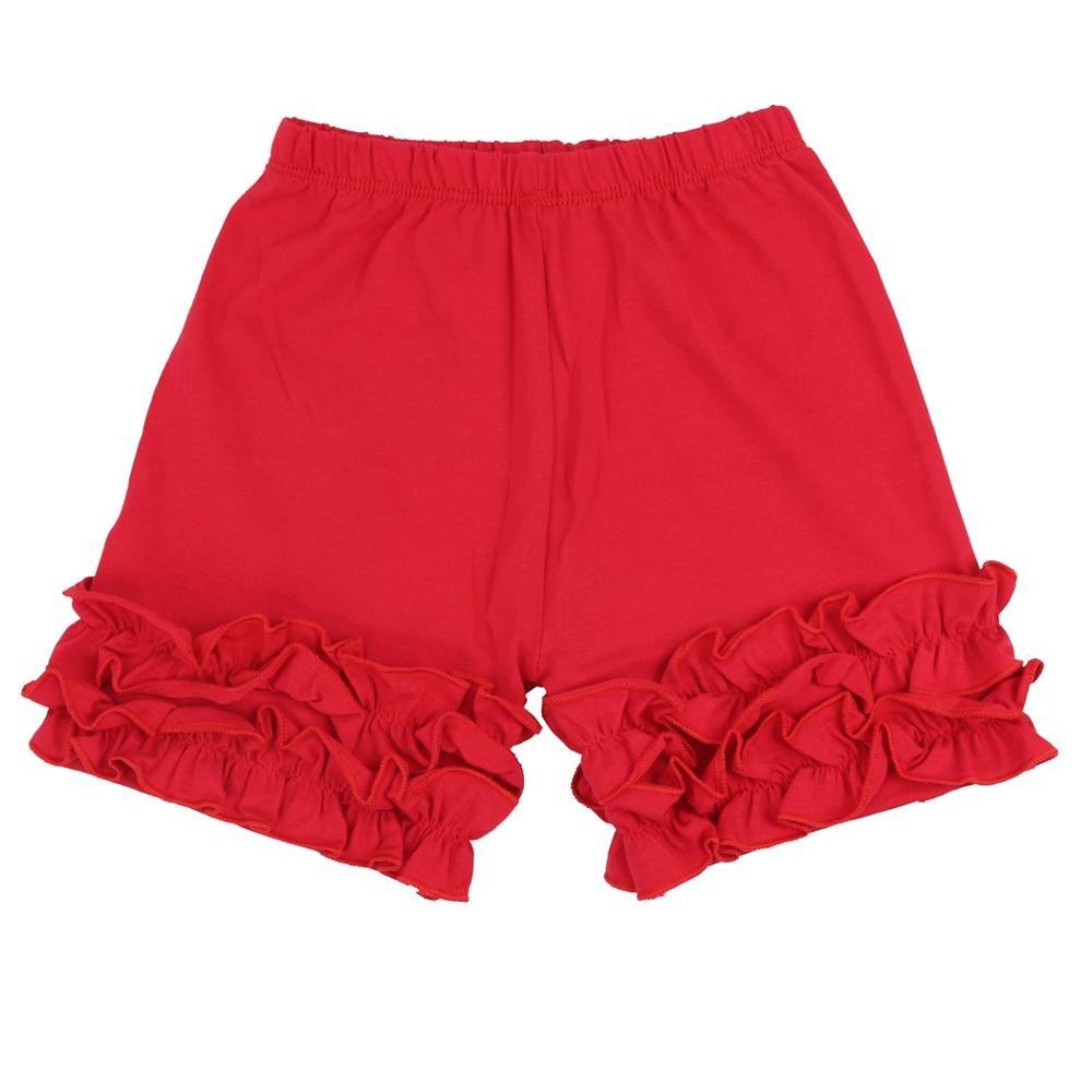 Wennikids Baby Little Girls Short Cotton Icing Ruffle Shorts LC-RS-604