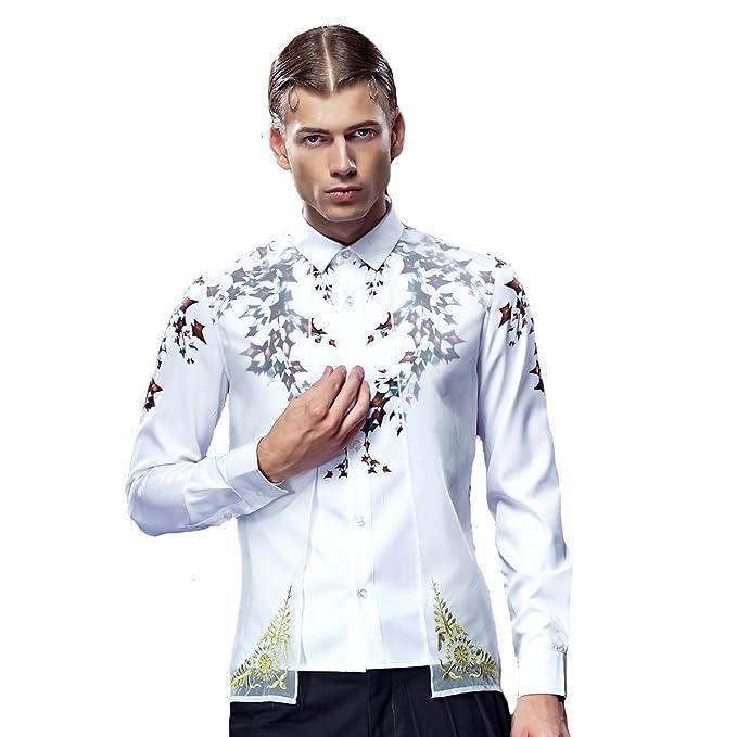 d0454831a5ffc4 FANZHUAN Camicia Uomo Slim Fit Camicia Uomo Matrimonio Camicia Uomo Slim  Fit Bianca Elegante