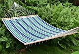 Caribbean Hammocks - Quilted Hammock (Green & Blue Stripe)