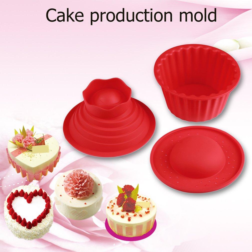 3pcs gigante Big silicona Cupcake Cake Molde superior Cupcake Bake juego de molde para hornear