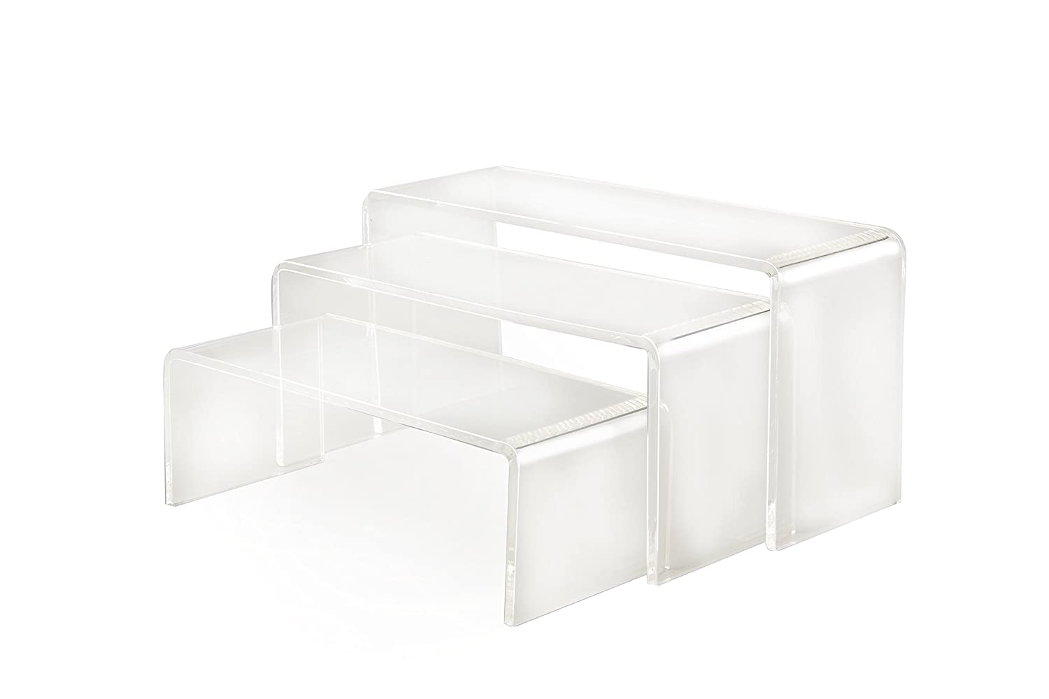 Small Crystal Clear Acrylic Display Stands | Display Plinths | Retail Displays | Set of 3 eezeUKmade