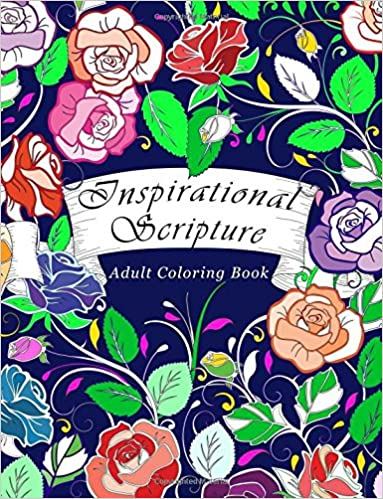 Amazon Adult Coloring Book Inspirational Scripture Bible Verse For Adults Relaxation 50 Unique Images 9781940282978 Everly May