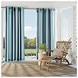 Parasol 15935052084IND Coco Bay 52-Inch by 84-Inch Indoor / Outdoor Single Window Curtain Panel, Indigo