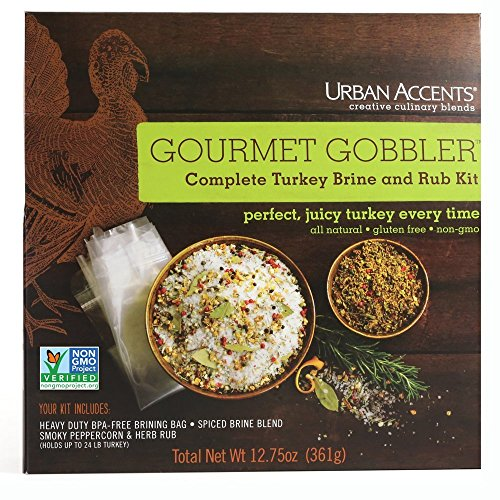 Elk Accent - Urban Accents Gourmet Gobbler Turkey Brine Kit, 12.75 Ounce