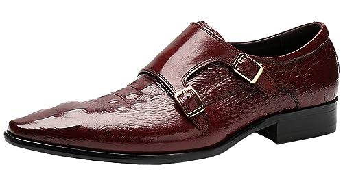 Wuf Chaussures À Double Boucle de ville Homme en cuir