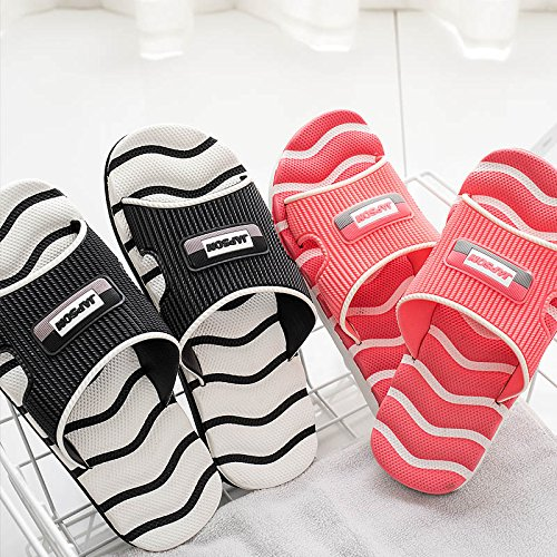 zapatillas interior white casual female el grueso zapatillas parejas Cross fondo UE hogar baño zapatillas baño Zapatillas verano de de para frescas RUGAI antideslizante XqB0gX