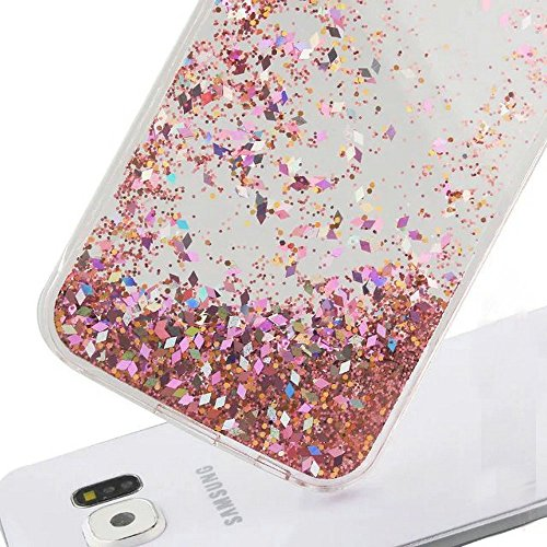 Galaxy S7 Edge Case , S7 Edge Quicksand Star Liquid Case, Surpriseyou Twinkle Little Stars Moving sand Liquid Shiny Bling Glitter Sparkle Hard PC Case for Samsung Galaxy S7 Edge (Pink Diamonds) Photo #4