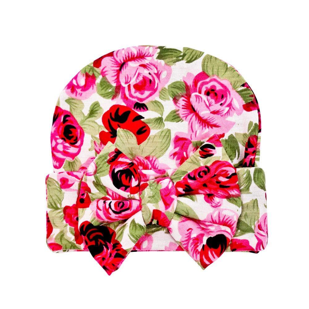 AFfeco Baby Boys Girls Cute Floral Print Beanie Cap Casual Hat