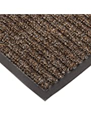 """NoTrax T39 Bristol Ridge Scraper Carpet Mat, for Wet and Dry Areas, 3' Width x 6' Length x 3/8"""" Thickness, Coffee"""