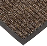 NoTrax T39 Bristol Ridge Scraper Carpet Mat, for Wet and Dry Areas, 3' Width x 6' Length x 3/8'' Thickness, Coffee