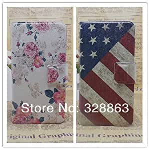 ModernGut New Ultra thin Flower Flag vintage PU Leather Flip Cover for Nokia Lumia 625 Slim Case,
