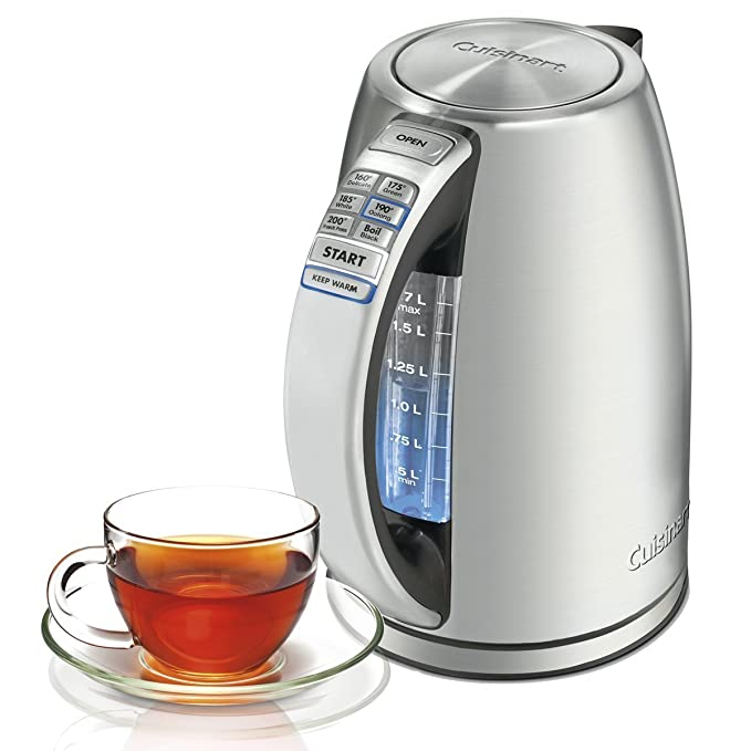 Cuisinart CPK-17 PerfecTemp 1.7-Liter Stainless Steel Cordless Electric Kettle - Silver