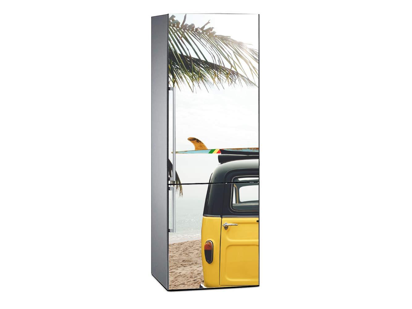 Oedim Vinilo para Frigorífico Furgoneta en Playa Tropical 185x70cm ...