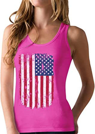 4th of July Independence Day Tank Patriotic Racerback Women Summer American Flag Print Sleeveless Vest Tops