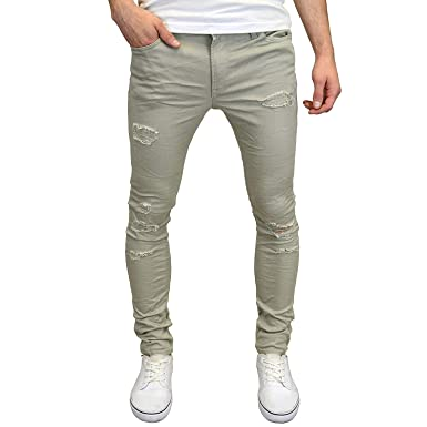 8a1db856 Jack & Jones Men's Ripped Skinny Fit Stretch Chinos at Amazon Men's  Clothing store: