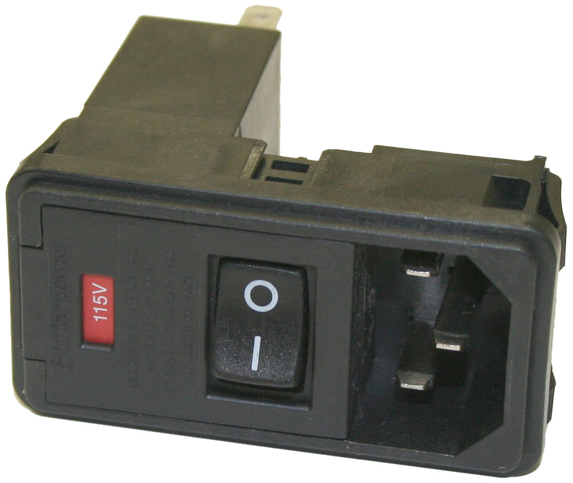 Interpower 83544040 Four Function Single Fuse Snap-In Module, C14 Inlet, Switch, Single Fused, Voltage Selector, 0.08-2mm Panel Thickness, 10A Current Rating, 120/250VAC Voltage Rating by Interpower