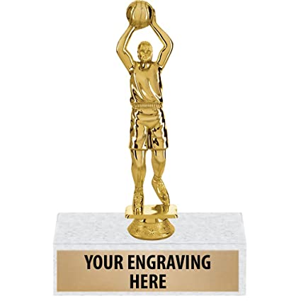 Amazon com : Basketball Trophies, Male Free Throw Basketball