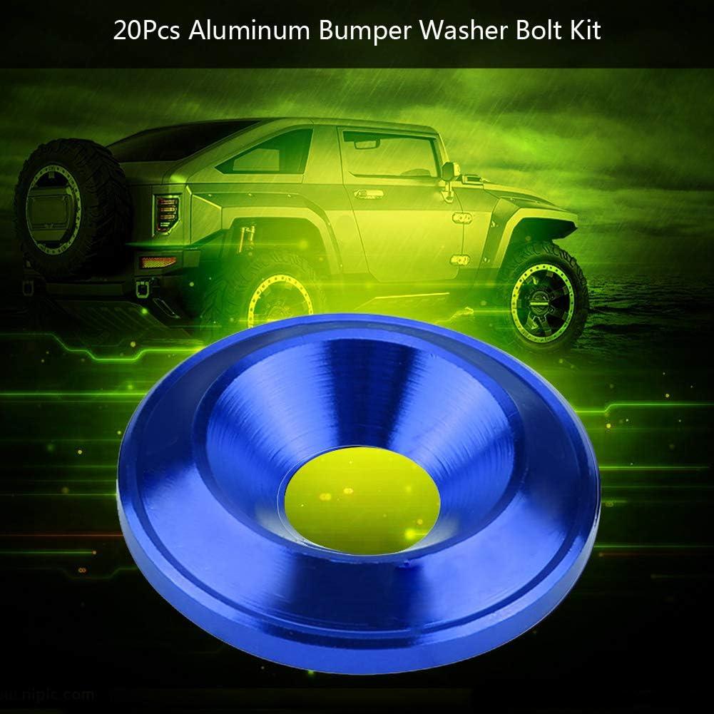 Dibiao Arandela de Guardabarros Kit de Vestir de Bah/ía de Motor de Tornillo 20 Piezas Arandela de Parachoques//Guardabarros de Aluminio