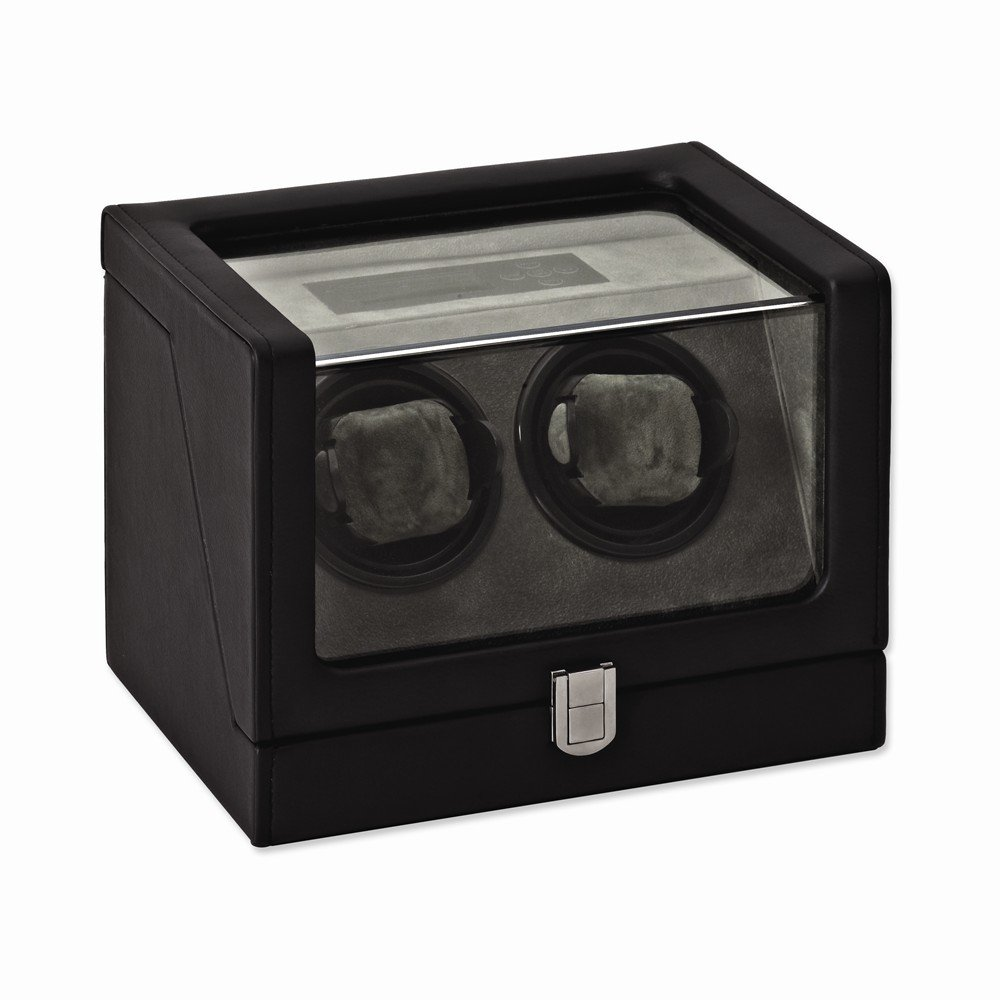 Top 10 Jewelry Gift Rotations Black PU Faux Leather Double Watch Winder