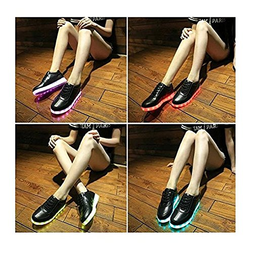 Colors Up Girls Black Sneakers Light Boys Unisex Mans For Womens Shoes Sport 7 LED Flashing ZHIHONG qgxXEwfU4E
