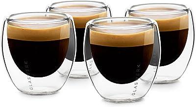 GLASWERK Design doppelwandige Espressogläser aus Borosilikatglas