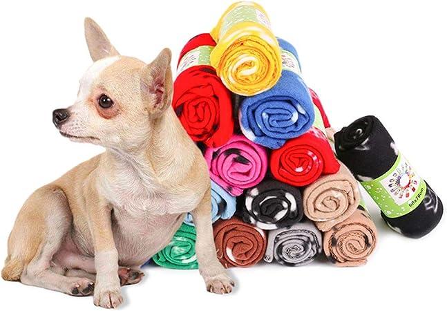Manta Polar Paw Print Pet Suave Perros Cachorro Gato Perro De Envío Gratis 70x100cm Nuevo