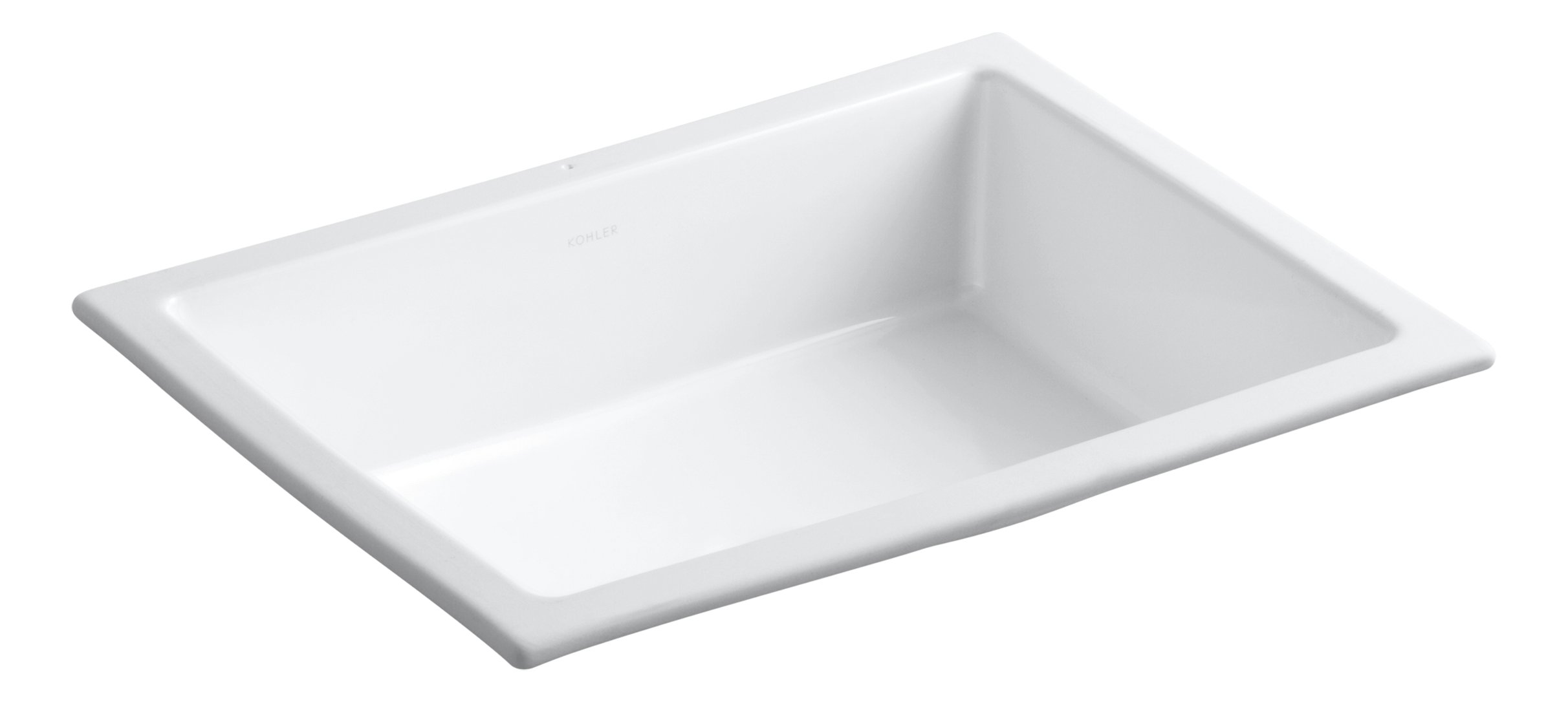 KOHLER K-2882-0 Verticyl Rectangle Undercounter Bathroom Sink, White