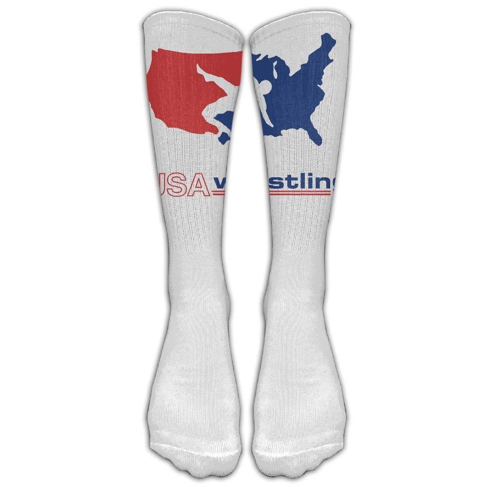 USA Wrestling Knee High Long Socks Athletic Tube Stockings For Soccer