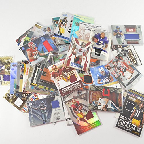 NFL Football Card Relic Game Used Jersey Autograph Card Group Gift Package (10 Relic/Auto (Game Used Jersey Cards)
