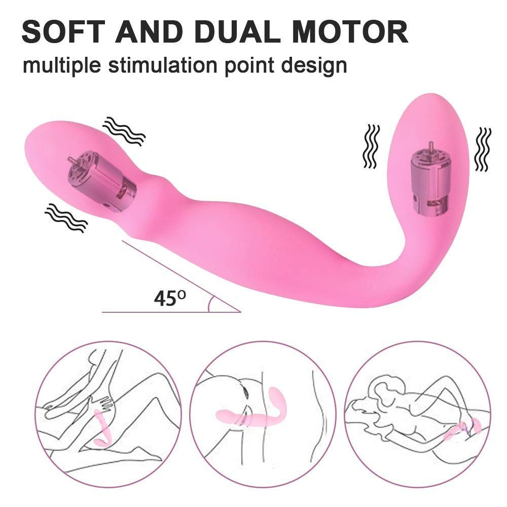 UOFFF Comfortable Toy Handheld USB Charging Silicone Double-Ended Dildo 10 Frequency Mute Magic Wand Wireless Magic Massager - Portable Lightweight Travel Design - The Best Choice by UOFFF