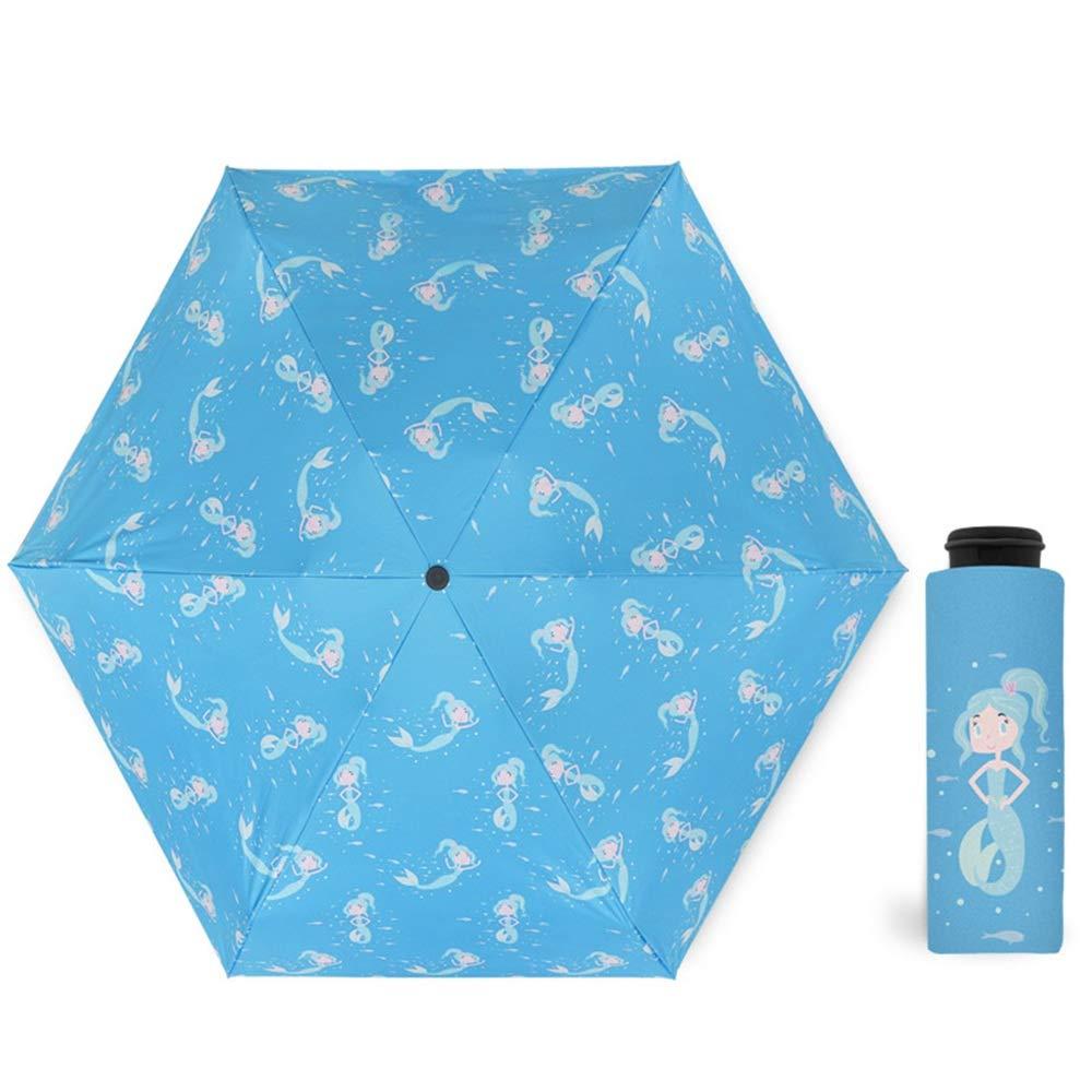傘の日焼け止めウルトラライト日当たりの良い雨の日陰6つの肋骨、4色 (色 : C) B07HP6QCN1 C