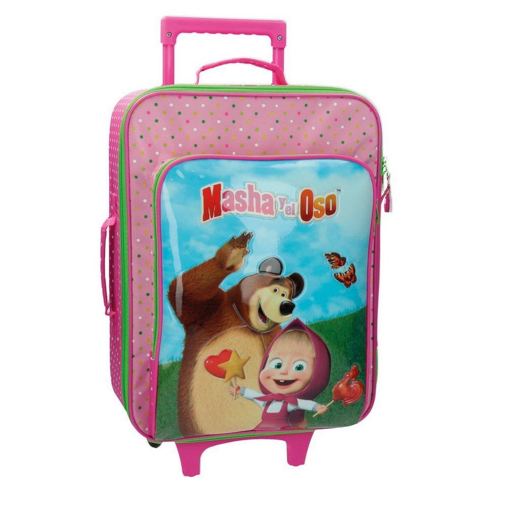 Masha 2659051 Kabinenkoffer und Der Bär Kindergepäck, 26 Liter, Rosa