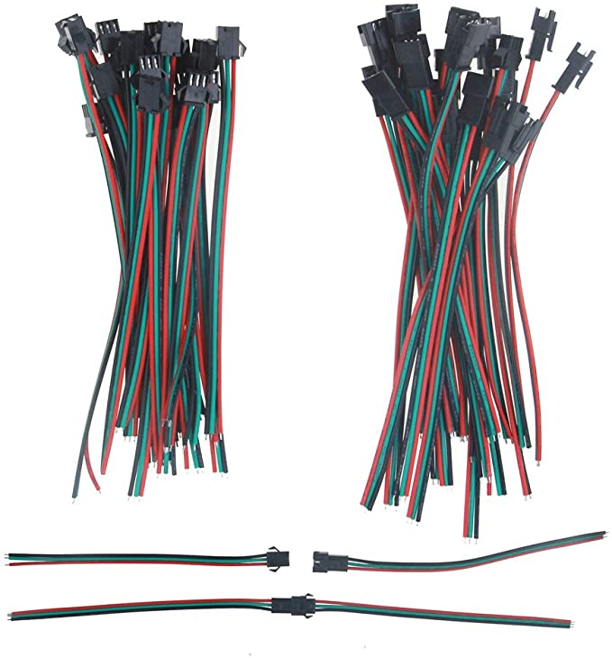 Racers Edge 1631 Jst Male//Female Connector with 100mm Wire Pair
