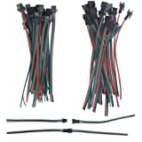 ALITOVE 20 Sets 3 Pin JST SM Male Female Plug LED Connector Cable 15cm 20awg Wire for WS2812B WS2812 WS2811 SK6812…