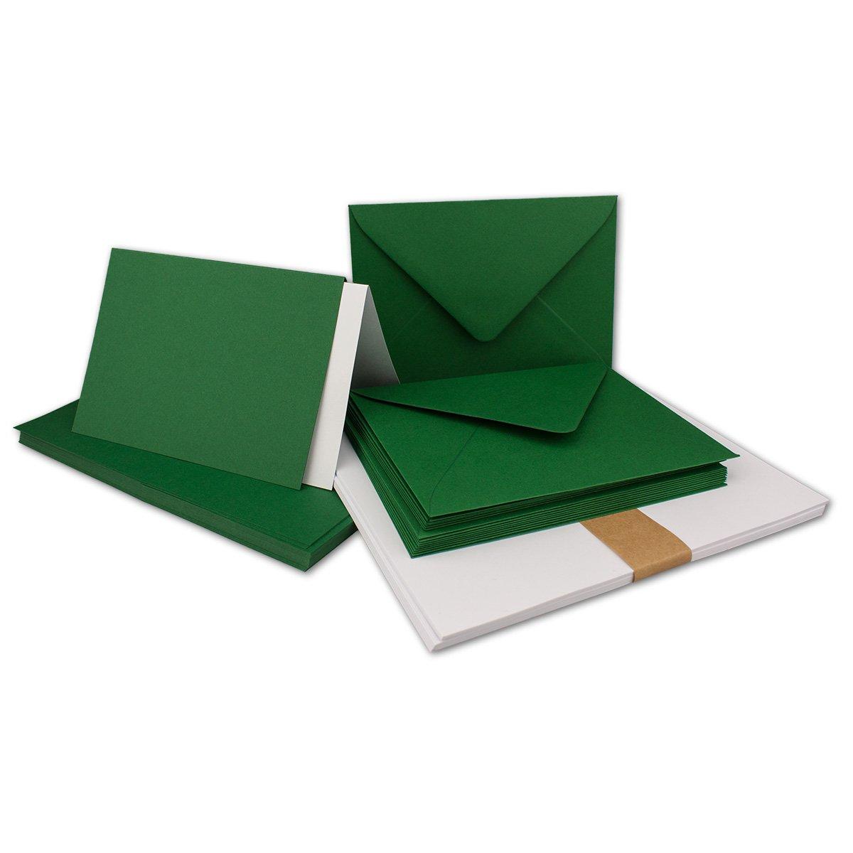150 Sets - Faltkarten Hellgrau - DIN A5  Umschläge  Einlegeblätter DIN C5 - PREMIUM QUALITÄT - sehr formstabil - Qualitätsmarke  NEUSER FarbenFroh B07C38445Z | Ausgang
