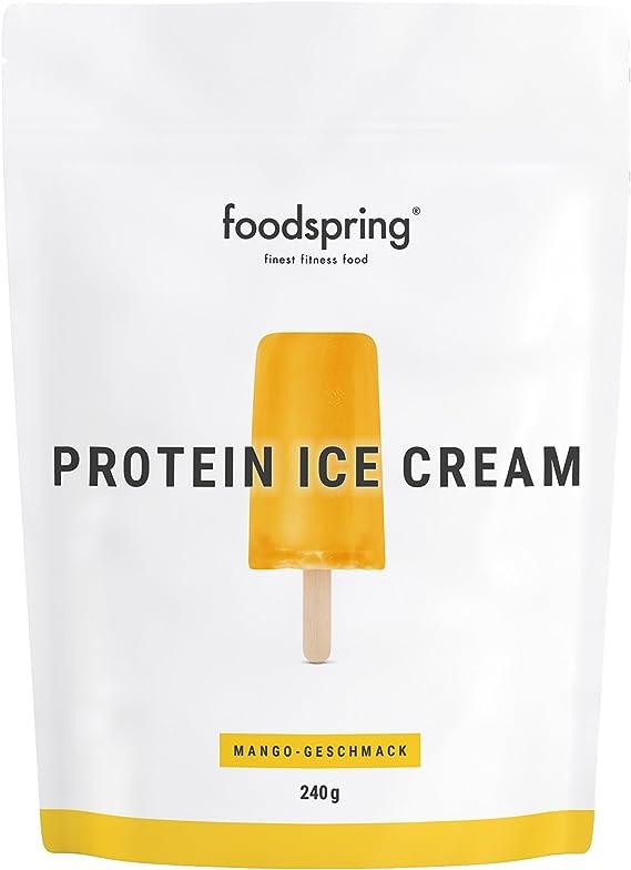 foodspring Helado Proteico, Mango, 240g, Tu polo de batido ...